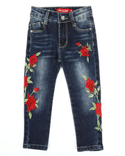Girls - Stretch Embroidered Jeans (2T-4T)-2326933