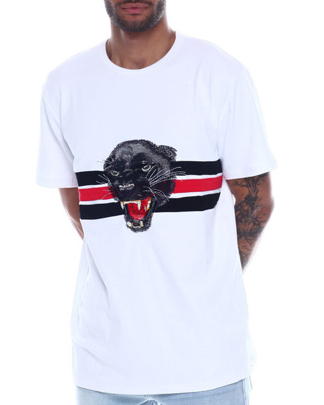 Vie + Riche - Embroidered Panther Tee