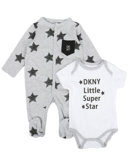 DKNY Jeans - NYC Star 2Pack Bodysuit & Coveralls Set (Infant))