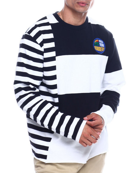 New York Robbery - Cut and Sew Stripe Tee