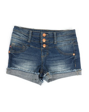 Bottoms - Tri Button Waist Shorts (7-16)-2329434