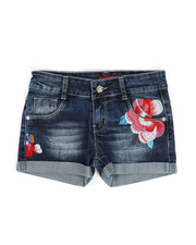 Bottoms - Embroidered Shorts (7-14)-2330553