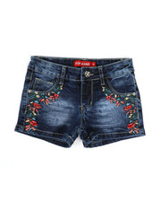 Girls - Embroidered Shorts (4-6X)-2330543