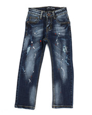 Boys - Rip & Repair Stretch Jeans (4-7)-2327979