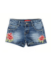 Girls - Embroidered Shorts (4-6X)-2330533