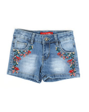 Girls - Embroidered Shorts (4-6X)-2330548