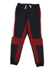 Bottoms - 2 Color Side Panel Fleece Joggers (8-20)-2327984