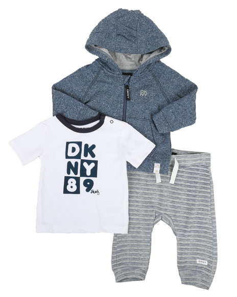 DKNY Jeans - DK Downtown Baby 3 Piece Jacket Set (12-24MO)