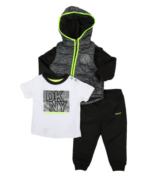 DKNY Jeans - Fulton Street 3 Piece Jacket Set (Infant)