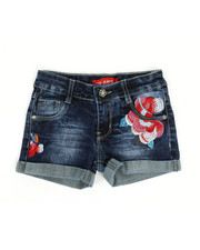Girls - Embroidered Shorts (4-6X)-2330565