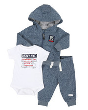 Infant & Newborn - DKNY NYC 3 Piece Jacket Set (0-9MO)-2327340