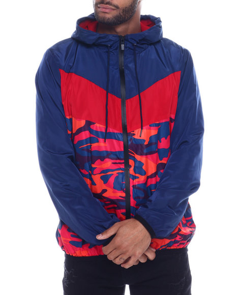 Buyers Picks - Colorblock Camo windbreaker