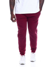 Joggers - Basic Solid Fleece Joggers (B&T)-2332563