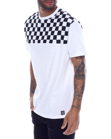 Buyers Picks - Checkerboard Shoulder tee