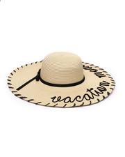 Women - Vacation Mode Whipstich Floppy Hat-2331677