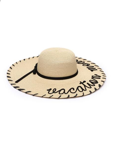 Fashion Lab - Vacation Mode Whipstich Floppy Hat