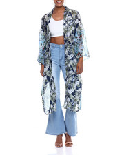 Fashion Lab - Color Block Floral Kimono-2333493