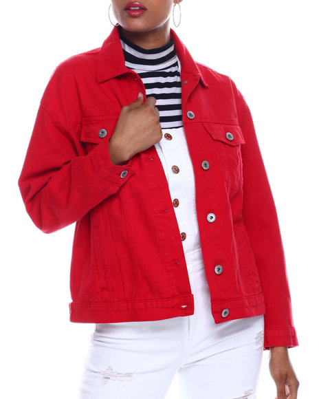 Fashion Lab - Oversized Denim Boyfriend Jacket