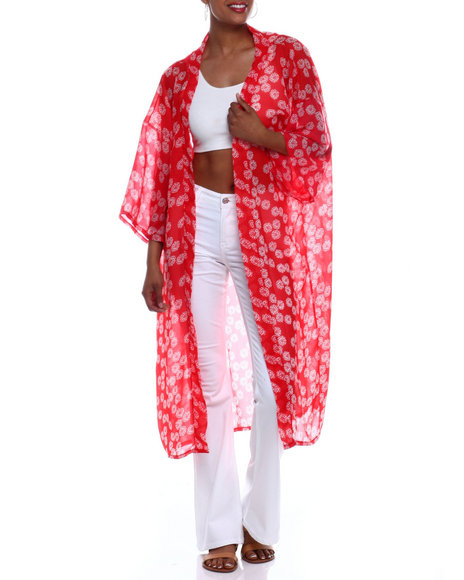 Fashion Lab - Tossed Floral Kimono