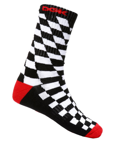 DGK - Checkers Illusion Crew Socks