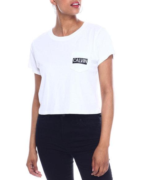 Calvin Klein - S/S Calvin Pocket Cropped T-shirt