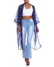 Fashion Tops - Tossed Floral Kimono-2333465