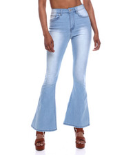Jeans - Flare Denim Pants W/ Frayed Hem-2333350