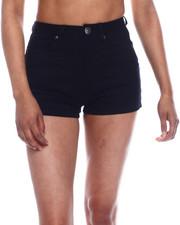 Fashion Lab - High Waisted Basic Denim Shorts-2333334