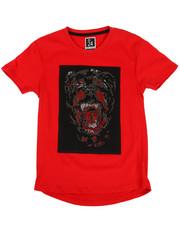 Arcade Styles - Rhinestone Bulldog Print Tee (8-20)-2328988