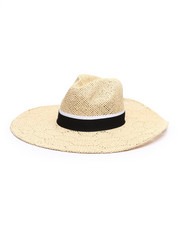 Fashion Lab - Open Weave Wide Brim Panama Hat-2333241