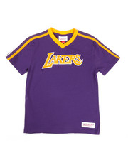 Mitchell & Ness - Overtime Win V-Neck LA Lakers T-Shirt (8-20)-2329033