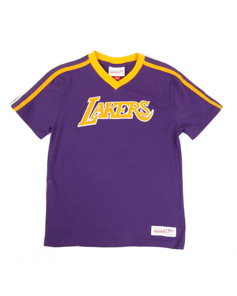 Mitchell & Ness - Overtime Win V-Neck LA Lakers T-Shirt (8-20)