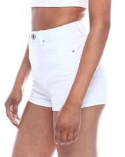 Fashion Lab - High Waisted Basic Denim Shorts-2333329