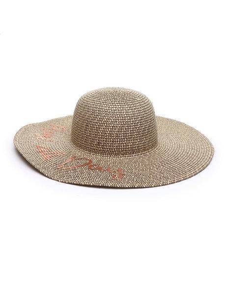 Fashion Lab - Rose All Day Floppy Sun Hat