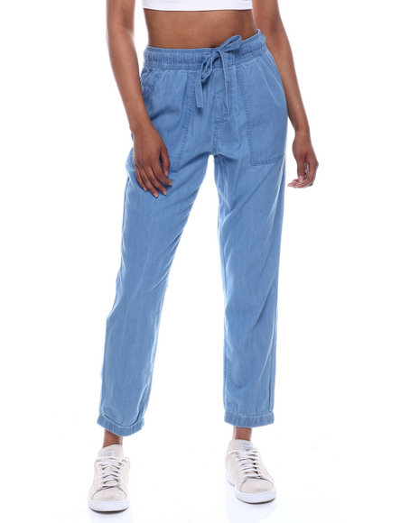 Fashion Lab - Pork Chop Pocket Drawstring Waist Jogger