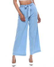 Fashion Lab - Hi Rise Porkchop Pocket Wide Leg Pant-2333488