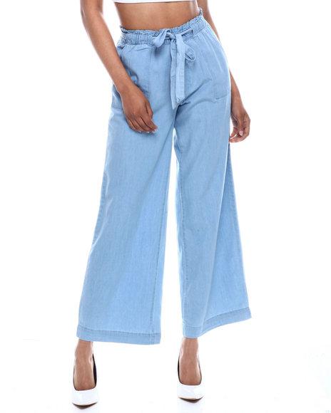 Fashion Lab - Hi Rise Porkchop Pocket Wide Leg Pant