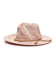 Fashion Lab - Brown Rope Trim Woven Hat-2333239