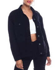 Women - Oversized Denim Boyfriend Jacket-2333367