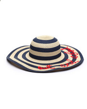 Fashion Lab - Out & About Piped Straw Hat-2333242