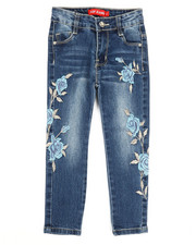 Girls - Stretch Embroidered Jeans (4-6X)-2330524