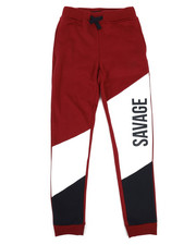 Bottoms - Color Blocked Graphic Fleece Joggers (8-20)-2329576