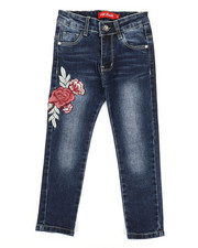 Girls - Stretch Embroidered Jeans (4-6X)-2331700