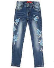 Girls - Stretch Embroidered Jeans (7-14)-2331711