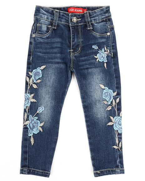 La Galleria - Stretch Embroidered Jeans (2T-4T)