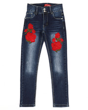 Girls - Stretch Embroidered Jeans (7-14)-2331705