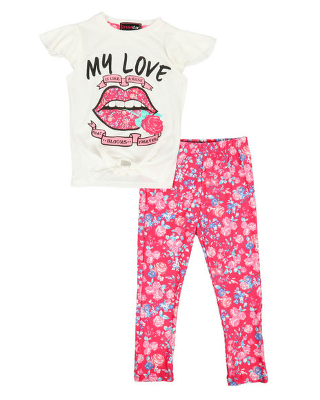 La Galleria - 2 Piece Knit Top & Leggings Set (4-6X)