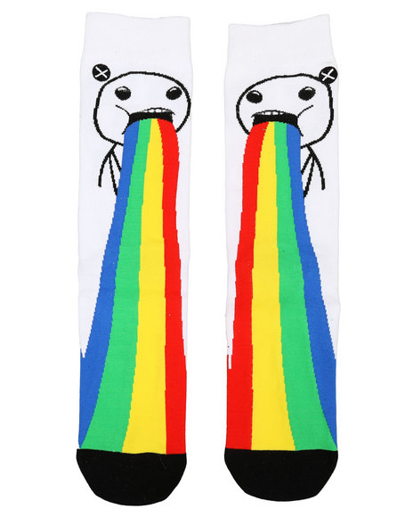 ODD SOX - Puking Rainbows Crew Socks