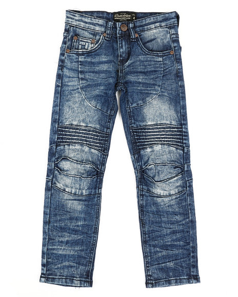 Arcade Styles - Ribbed Moto Stretch Jeans (4-7)