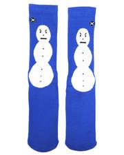 DRJ SOCK SHOP - Snowman Crew Socks-2333541